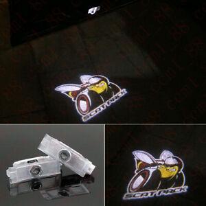 2X LED Logo Door Courtesy Projector Shadow Lights For Dodge Challenger Scat Pack