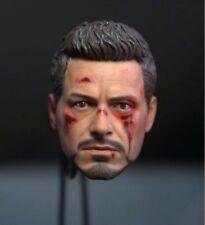 Iron Man Tony Stark Battle Damaged Version 1/6 Head Sculpt CS