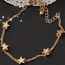 Bracelet 9ct Gold GF Stars Chain Bangle Mother Gift Holiday Summer Lobster