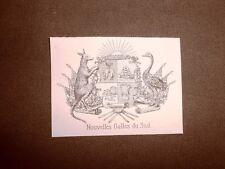 Stemma o blasone Nouvelles Galles du Sud Australia Anno 1865 Araldica