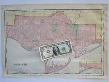 Lg 1901 CANADA TORONTO City Map McN Business ONTARIO. PARKDALE, SEATON VILLAGE