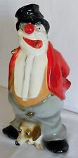 Universal Statuary Clown with Cigar in mouth & Dog Figure Chalkware 1980 12.5""