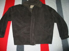 Guess American Leather Sherpa Lined Bomber Flight Jacket Men's S Darck Chocolate