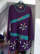 multi coloured long sleeved tunic top Corte Hindu brand size large