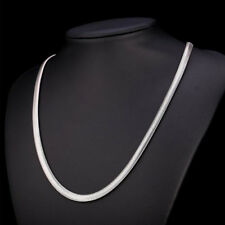 """6mm Unisex Men's Punk Stainless Steel Silver Snake Chain Necklace Jewelry 19.6"""""""