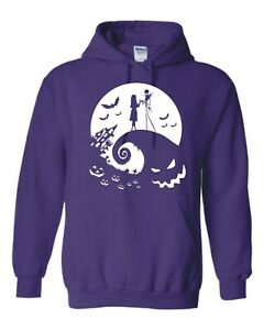 """INSPIRED BY THE NIGHTMARE BEFORE CHRISTMAS """"MOON SILHOUETTE"""" HOODIE"""