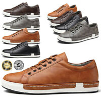 AU Men's Leather Athletic Sneakers Outdoor Breathable Sports Casual Shoes 38-46
