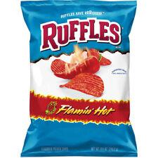 NEW RUFFLES FLAMIN HOT FLAVORED POTATO CHIPS 8.5 OZ BAG FREE WORLD WIDE SHIPPING