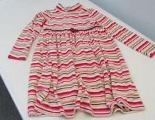 Gymboree COZY OWL Velour Dress Red/White/Pink/Green Stripes Size 10 EUC TL54