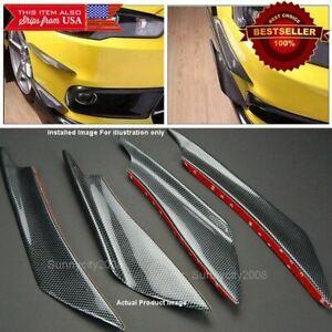 Carbon Effect Bumper Splitter Fin Wing Spoiler Canard Diffuser for Honda Acura