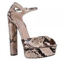 *BNIB*  CASADEI - Snakeskin Spiaggia Rosa platform sandals heels - 38