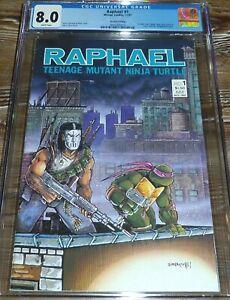 Raphael #1 CGC 8.0 (11/87) Mirage Studios Comics 2nd Print 1st App Casey Jones