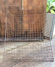 Vintage Metal Mesh Wire Letter Tray Storage Basket - Older Style - Patina!!