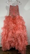 Dancing Queen Gown Size: Small Ruffled Strapless Beaded Corset Formal