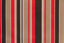 """59"""" Red & Black Stripe INDOOR & OUTDOOR - Sale Fabric - 5 Yards"""