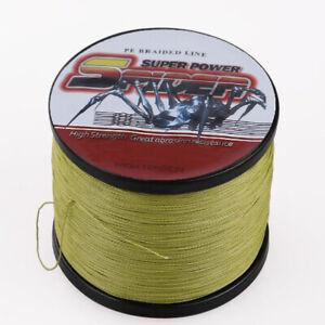 100M-1000M Army Green 6LB-300LB Super Strong Dyneema Braid Spider Fishing Line