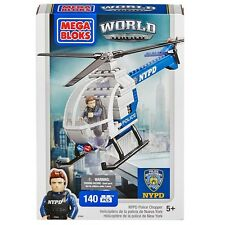 Job Lot - 5 x Mega Bloks World Builders NYPD Police Chopper (140 Pieces) 97845
