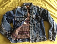 *reduced Vintage Levi Jean Jacket With Blanket Wool Lining Unisex