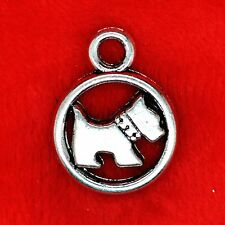 4 x Tibetan Silver Sccotie Westie Dog Charm Pendant Finding Bead Making