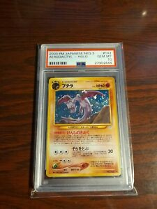 PSA 10 Aerodactyl No. 142 Neo 3 Revelation Holo Japanese Pokemon Card Gem Mint