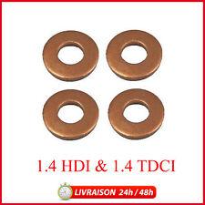 X4 Joint (bagues) d'injecteurs cuivre C1/C2/C3/Fiesta/107 1.4 Hdi 1.4 TDCI