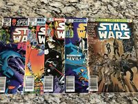 STAR WARS Run #50 51 52 53 54  NEWSSTAND LOT 1977 MARVEL 1st Prints!