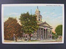 Bucyrus Ohio OH Court House Vintage Curt Teich Color Linen Postcard 1944