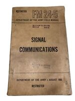 Vintage August 1950 Dept of the Army Field Booklet FM 24-5 Signal Communications