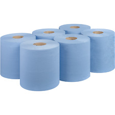 More details for  blue rolls centrefeed 6  12 paper wipe embossed rolls 120m rolls 2 ply bigger