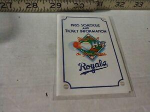 1985 Kansas City Royals Baseball Pocket Schedule- Budweiser