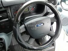 i TO FIT FORD FOCUS, STEERING WHEEL COVER, CARBON LOOK ECO LEATHER SWC 58M