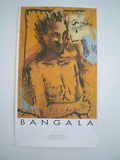 BANGALA - AFFICHE ORIGINALE D'EXPOSITION- GALERIE DU JOUR – TRES RARE– 1988