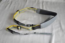 GENERIC GREY & YELLOW DSLR/SLR CAMERA STRAP *5* USED