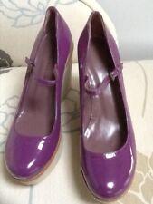 Studio Pollini purple patent wedge Mary Jane UK 3