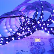 1m 5050 Purple Violet UV Flexible LED Strip Light Waterproof black lamp DC 12V