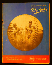 Rare 1965 Los Angeles Dodgers program Sandy Koufax and Don Drysdale on cover
