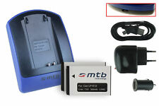 2 Batteries + Chargeur -USB- LP-E12 pour Canon EOS 100D, EOS M, EOS Rebel SL1