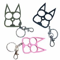 Cat Key Chain Outdoor Unique Protection Self Defense Buckle Keyring Cute