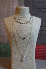 Silver Plated Multi Layer Pendant necklace