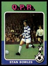 Topps Foootball 1975 Red/Grey (B1) Stan Bowles Queens Park Rangers No. 156