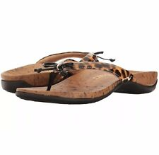 811c18857be5 Vionic Orthaheel Cassie Thong Sandals Bow Detail Black Leopard Print 11