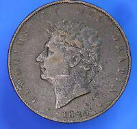1826 George IV KGIV Half Penny, ½d coin *[20142]