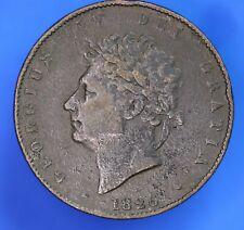 More details for 1826 george iv kgiv half penny, ½d coin *[20142]