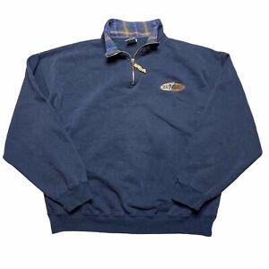 Vintage 90s BAC Premier Maui Hawaii 1/4 Zip Pullover Sweatshirt Navy Mens Large