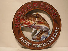 """Anglers Cove """"Fishing Stories Told Daily"""" Sign Fishing Lodge Cabin Home/Decor"""