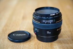 Canon EF 50mm f/1.4 USM plus leather carry bag