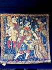 Tapestry Cushion Cover 17 x 17 Grapes Harvest Wine Makers Belgian Woven Jacquard