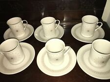 Royal Doulton Morning Star Coffee Expresso Cups / cans & Saucers Set Of x6