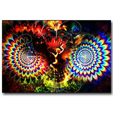 Psychedelic Trippy Abstract Silk Poster Picture 13x20 24x36inch 024