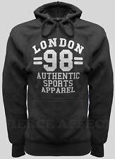 Pullover Hoodie Hooded Sweatshirt LONDON 98 Design Fleece Top Plain Hoody Jumper